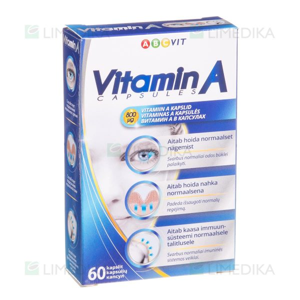 ABC VIT, vitaminas A, 60 kapsulių