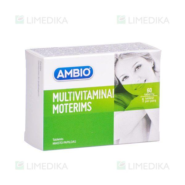 AMBIO MULTIVITAMINAI MOTERIMS, 60 tablečių
