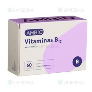 AMBIO VITAMINAS B12, 60 tablečių