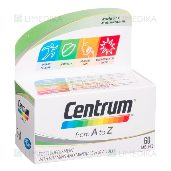 CENTRUM A-Z, multivitaminai, 60 tablečių