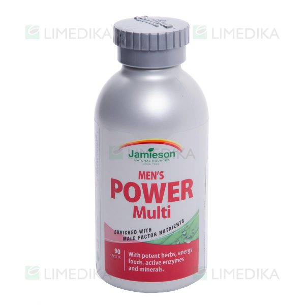 JAMIESON POWER VITAMINS FOR MEN, vyrams, 90 tablečių