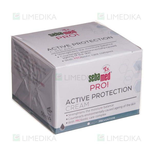 """SEBAMED PRO, apsauginis drėkinamasis kremas su probiotikais """"Active Protection"""", 50 ml"""